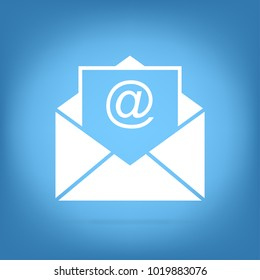 mail envelope illustration - contact flat icon