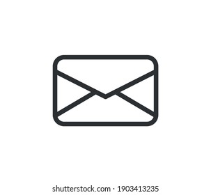 Mail Icon with Editable Stroke and Pixel Perfect.