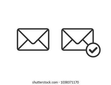 Mail icon. Envelope sign. Vector Illustration. Email icon. Letter icon. Transparent background.