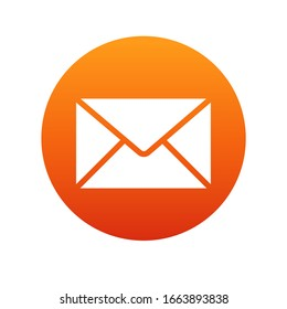 Mail icon. Envelope sign. Vector
