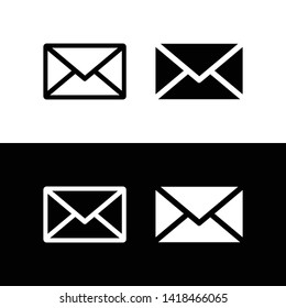 Mail icon. Envelope symbol. message sign vector