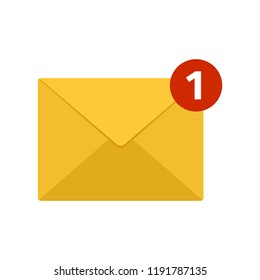 Mail icon. Incoming new email message. Vector illustration