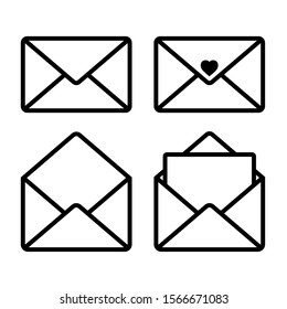 Mail icon isolated on white background, Vector Illustration.