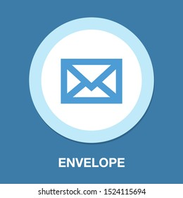 Mail icon, letter Message button - mailbox, envelope email, post mail
