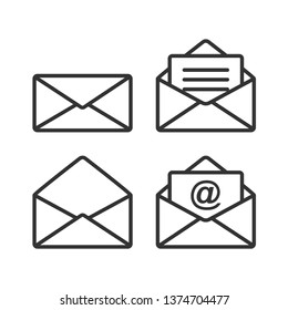 Mail Icon. Message Illustration As A Simple Vector Sign & Trendy Symbol for Design and Websites, Presentation or Mobile Application.