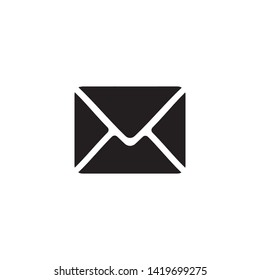 Mail icon. Online postal sign