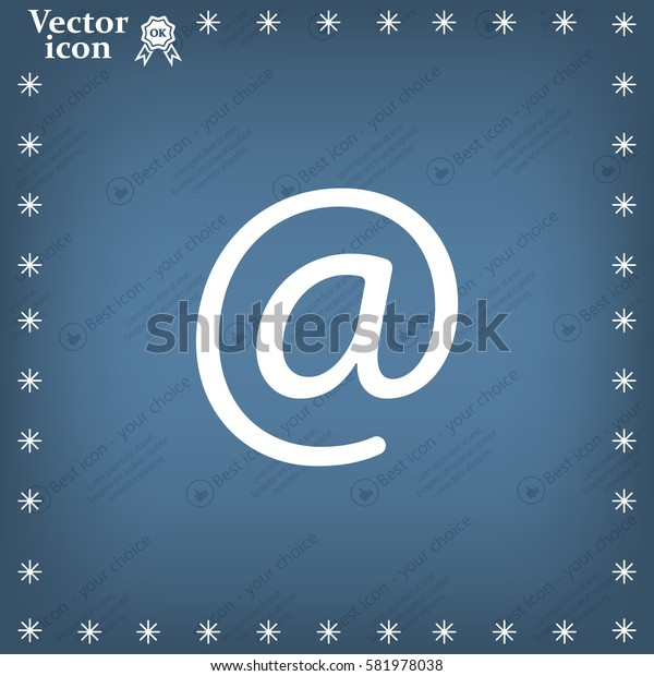 At mail icon vector