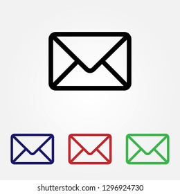 Mail icon vector. Email