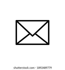 Mail icon vector. email icon vector. E-mail icon. Envelope illustration