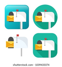 mail icon - vector email icon - send message sign symbol