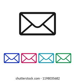 Mail icon vector, Envelope sign, Email symbol
