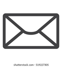 Mail Icon Vector flat design style