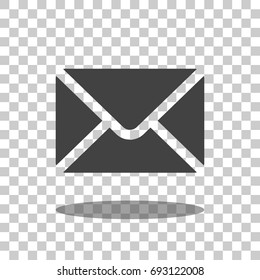 mail icon vector isolated