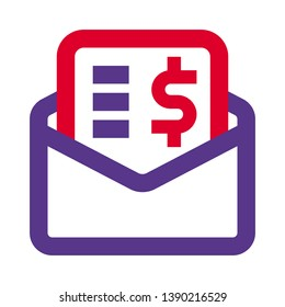 mail invoice for digital payment receipt amount