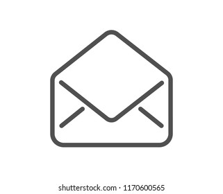 Mail line icon. Message correspondence sign. E-mail symbol. Quality design element. Classic style mail icon. Editable stroke. Vector