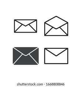 mail logo icon vector template