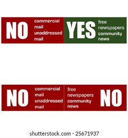 Mail preference stickers