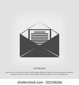 Mail sign icon,