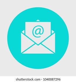 Mail sign icon or envelope icon in flat style for website design. Vector illustration, eps10.