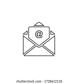 mail sign icon vector isolated