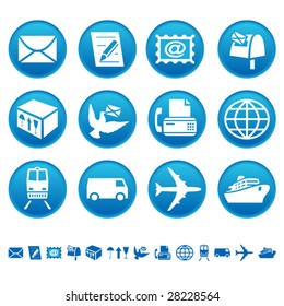 Mail and transportation icons