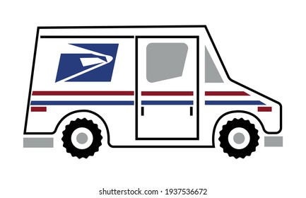 Mail Truck Vector And Clip Art