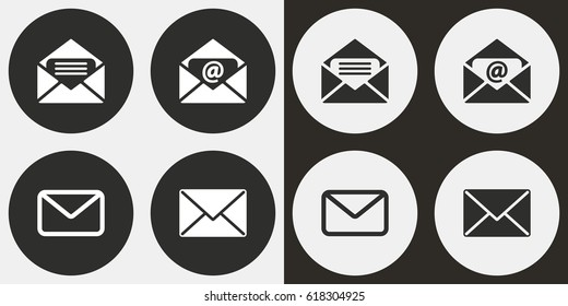 Mail vector icons set. Illustration isolated for graphic and web design.