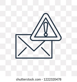 Mail vector outline icon isolated on transparent background, high quality linear Mail transparency concept can be used web and mobile