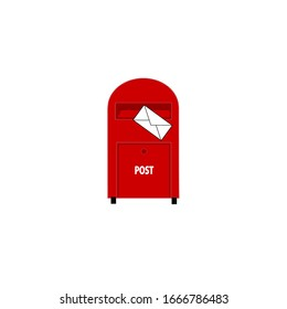 Mailbox icon, vector illustration. Mail order button, mailbox. email envelopes, postal letters