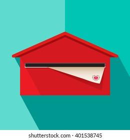 Mailbox post letter vector illustration
