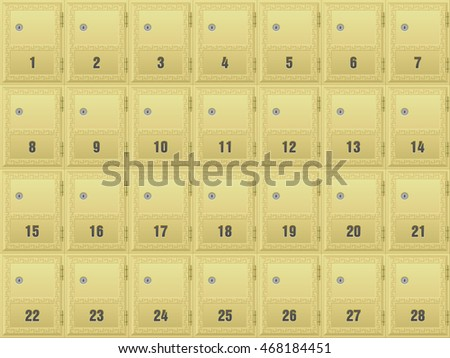 Mailboxes Apartment Building Background Stock Vector (Royalty Free ...