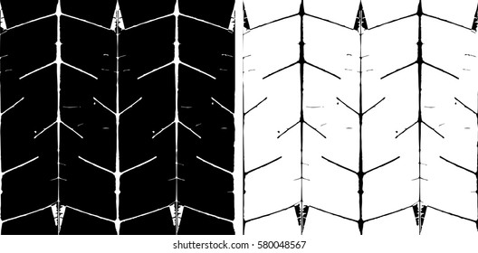 Main leaf veins based pattern, in two black and white versions,