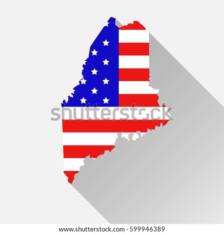Maine State Map Style USA National Stock Vector (Royalty ...