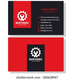 Electrician business card images stock photos vectors shutterstock maintenance business card reheart Gallery