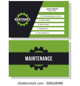 Home improvement business card images stock photos vectors maintenance business card reheart Image collections