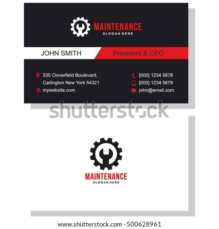 maintenance business card stock vector royalty free 500628961