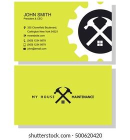 Maintenance business card design