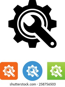 Maintenance / gear with wrench icon