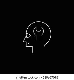 Maintenance profile icon black