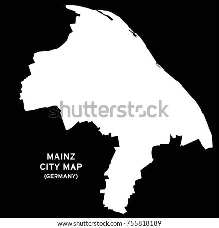 Mainz Germany City Map Vector Stock Vector Royalty Free 755818189