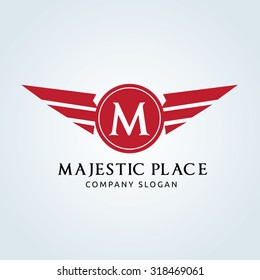 Majestic Place, M letter logo template