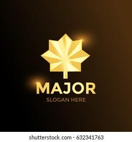 Major Army Soldier Military Logo Golden Illustration