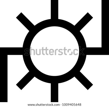 Major Japanese Map Symbol Power Station Stock Vector Royalty Free