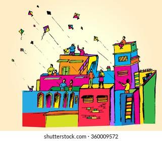 Makar Sankranti colour