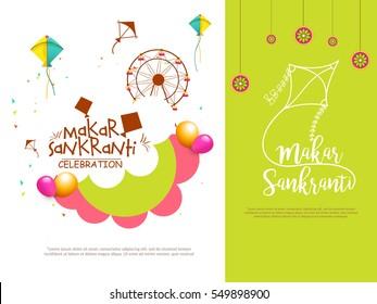 Makar Sankranti Greeting Card.