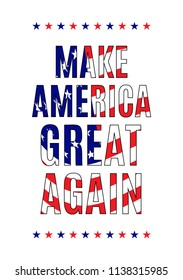 Make America great again quote on a white background