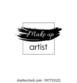 Make up artist concept. Vector template