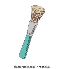 make up brush tool isolated