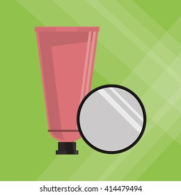 Make up design. cosmetic icon. skin care concept, vector illustration