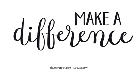 People Make Difference Images, Stock Photos & Vectors ...